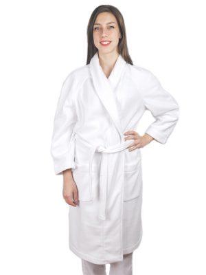 Дамски медицински халат М-105.2 - бял