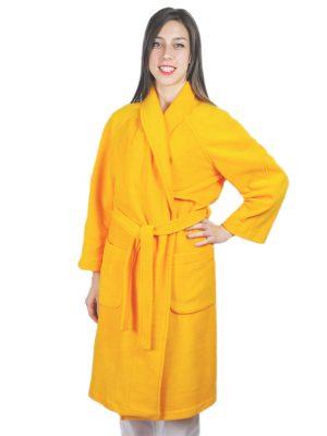 Дамски медицински халат М-105.36 - жълт
