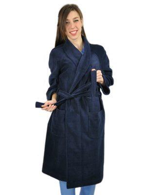 Дамски медицински халат М-105.4 - тъмно син