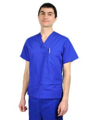Мъжкa медицинскa туникa C-18 - кралско синя