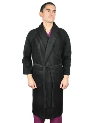 Мъжки медицински халат C-105.11 - черен