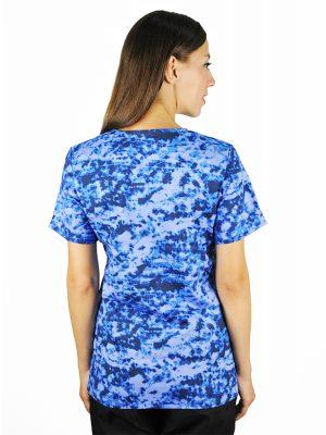 Синя дамска медицинска туника М - 5927