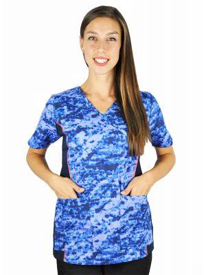 Синя дамска медицинска туника М -5927